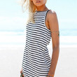 Striped Sleeveless Hem Maxi Dress