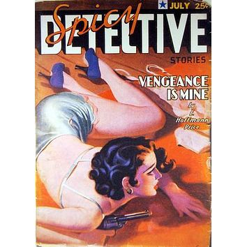 Pulp Fiction Novel Exploitation Art Poster Spicy Detective 27inx40in