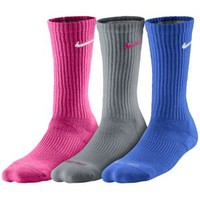 Nike 3 Pack Dri-Fit Cushioned Crew - Women's
