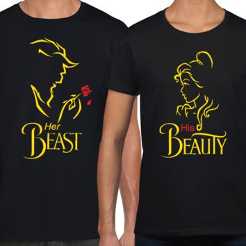 Beauty and the Beast Fancy Matching Couples Shirts