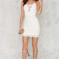 Deep V Diving Mini Dress