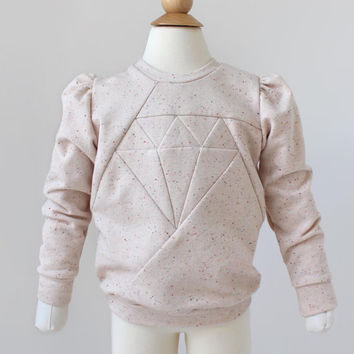 Diamond Sweater PDF Sewing Pattern & Tutorial for Girls, Boys, Babies, Toddler.