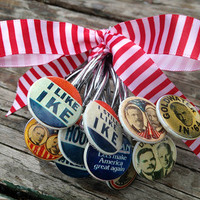 Shower Curtain Hooks, Presidential Election Campaign Buttons, Republican