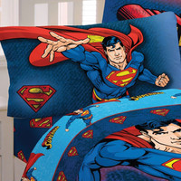 DC Comics Superman Superhero 3pc Twin Bed Sheet Set