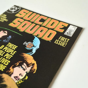 Vintage DC Comic Book, Suicide Squad, First Issue, 1987