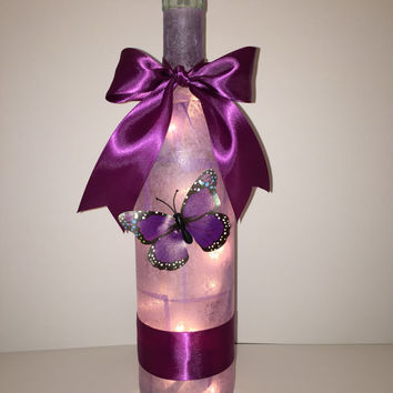 Butterfly Wine Bottle Lamp