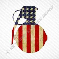 American Flag Grenade Vinyl Decal Bumper Sticker Molon Labe Truck Gun fits Jeep