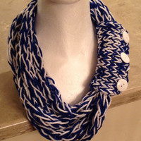 Indianapolis Colts LA Dodgers Toronto Maple Leafs Kansas City Royals Duke Finger Knit Infinity Eternity Chunky Necklace Winter Scarf