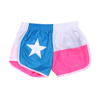 Tyler's :: WOMENS :: APPAREL :: ATHLETIC SHORTS :: TX FLAG RACER-W