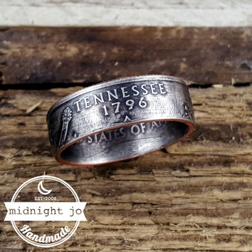 Tennessee State Quarter Coin Ring