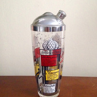 French Location Cocktail Shaker with Recipes