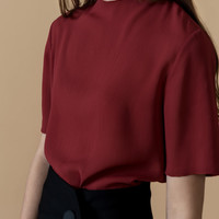 Pleated Chiffon Shirt