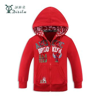 NEW Autumn Children Coat Print Pattern Student Baseball Wear Boys Sweatshirt Hoodies