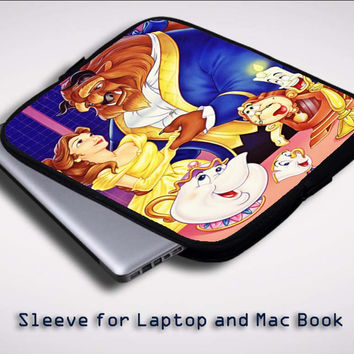 Walt Disney Posters Beauty and the Beast  X0557 Sleeve for Laptop, Macbook Pro, Macbook Air (Twin Sides)