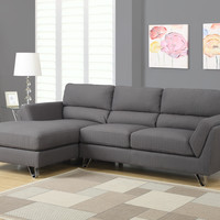 Charcoal Grey Linen Sofa Lounger