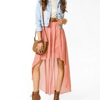 Metallic High-Low Maxi Dress