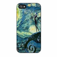 jack skellington starry night cases for iphone se 5 5s 5c 4 4s 6 6s plus
