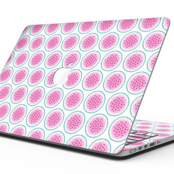 The Watermelon Polka Dot Pattern - MacBook Pro with Retina Display Full-Coverage Skin Kit