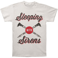 Sleeping With Sirens Men's  Tough As Nails T-shirt Grey Rockabilia