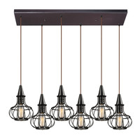 ELK Yardley Collection 6 light chandelier in Oil Rubbed Bronze - 14191/6RC
