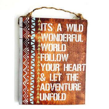 Adventure /Travel/ sign / Hippie/ boho / gypsy / anthropologie /urban outfitters / wholesale / gift / sea gypsy california