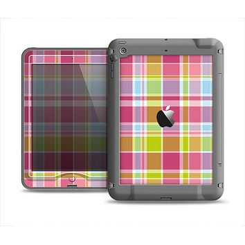 The Yellow & Pink Plaid Apple iPad Air LifeProof Nuud Case Skin Set