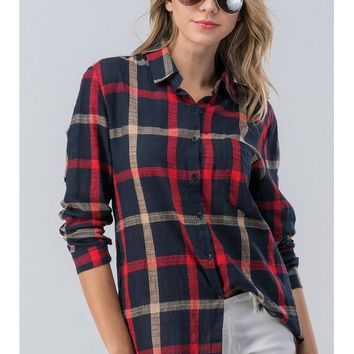 Save The Day Plaid Tunic