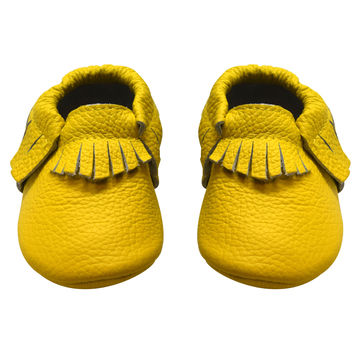 Banana Mocc- Leather Baby moccasins