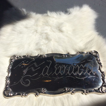 """Edward"" Coffin Plate"
