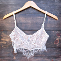 intimate lace underwire bralette - white