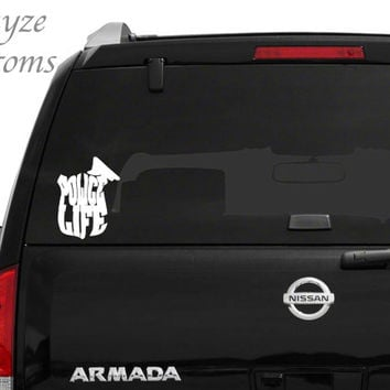 Police Life/ Law Enforcement,Back The Blue Car/Computer vinyl decal / Please put color choice in note to seller.