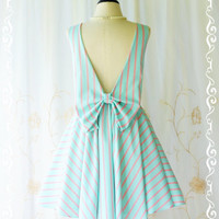 A Party Angel Dress Pale Blue/Pink Stripe Backless Dress Spring Summer Dress Pale Blue Prom Party Dress Wedding Bridesmaid Dresses XS-XL