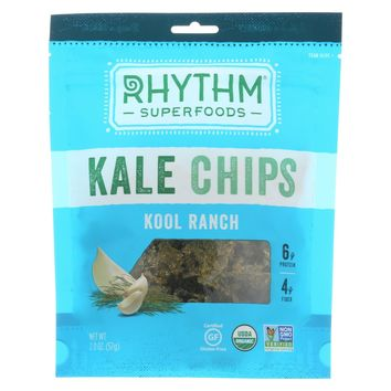 Rhythm Superfoods Kool Ranch Kale Chips - 2-Ounce - Pack of 4