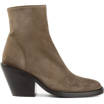 Ann Demeulemeester round toe ankle boots