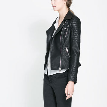 MOTORCYCLE JACKET WITH ZIPS - Blazers - Woman | ZARA Canada