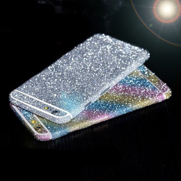 Full Body Glitter Sticker Cover for iPhone 6 Bling Daimond Phone Film Decal for iPhone 6s 7 Shiny Paster for iPhone 6S 6 7 plus