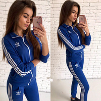 ADIDAS Cardigan Jacket Coat Pants Trousers Set Two-Piece Sportswear