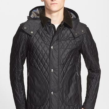 Men's Belstaff 'Winstead' Slim Fit Quilted Waxed Cotton Jacket,