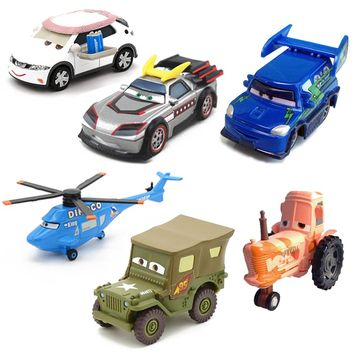 Disney Pixar Cars 3 Lightning McQueen Metal Car Sarge Lizzie 1:55 Diecast Metal Alloy Toys Birthday Gifts For Kids Cars Toys