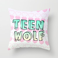 TEEN WOLF Throw Pillow by Sara Eshak