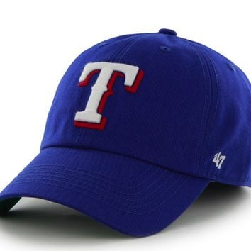 '47 Brand Texas Rangers Blue Franchise Fitted Dad Hat