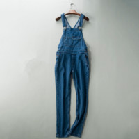 The new women's pants solid wild Korean version jeans trousers overalls