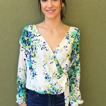 Spring Fever Top- White Multi