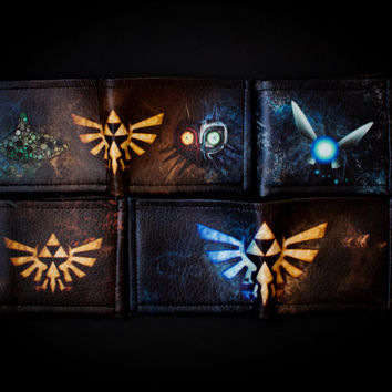Zelda bifold, Triforce bifold, Ocarina of time, Majoras mask bifold, legend of zelda bifold, Zelda wallet, legend of zelda wallet