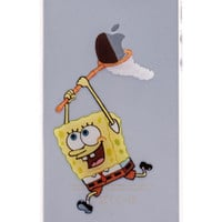 SpongeBob Transparent Back Cover Case for iPhone 5 & 5S