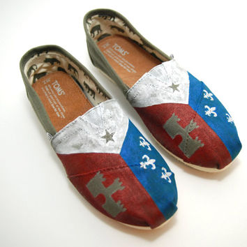 Acadian Flag - CUSTOM TOMS SHOES