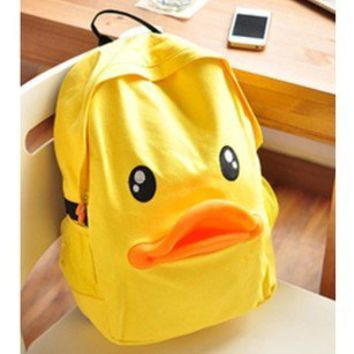 Cute Leisure Duck Shape Canvas Backpack