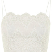 Deco Lace Bralet - White