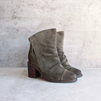 sbicca - millie womens suede leather booties
