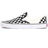 Classic Slip-On Sneakers Black / White Checkerboard